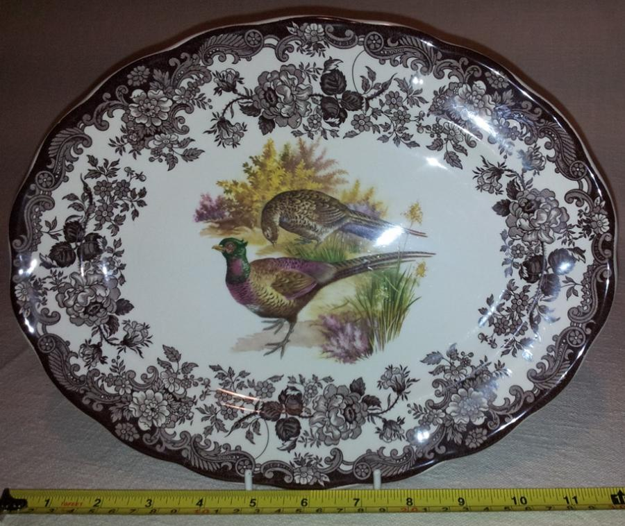 Royal Worcester Palissy Game Series Oval Plate