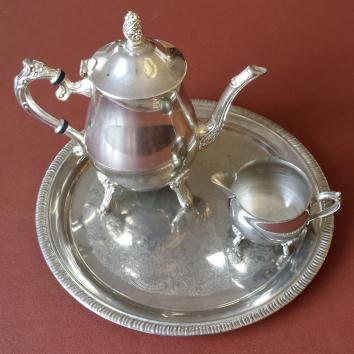 Lovely 3 Piece Silver Plate Tea Set