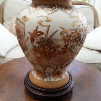 Hand Painted Chinese Ginger Jar Lamp