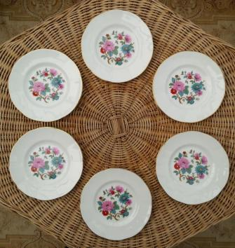 Springfield Bone China Side Plates x6