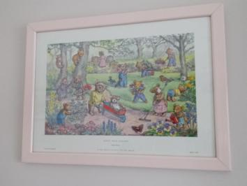 Lovely Molly Brett Teddy Bear Garden Print