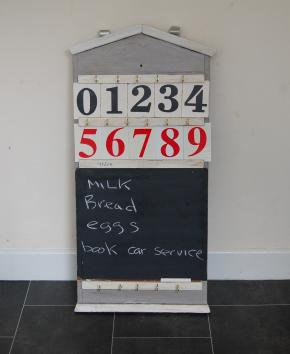 Shabby chic key notice board