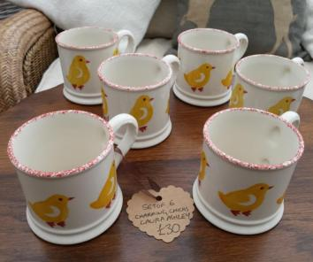 Gorgeous Laura Ashley Mugs X6 for Easter
