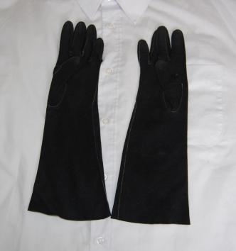 Black Suede Ladies Dress Gloves