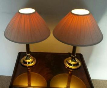 Pair of Quality Brassware Table Lamps