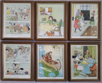 Set of 6 Children Illustration Vintage Prints
