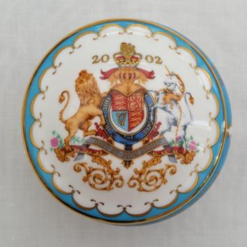 Royal Collection Golden Jubilee China Trinket or Pill Box