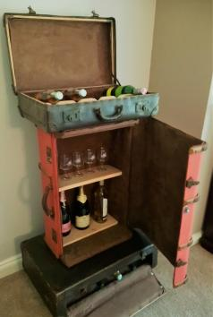 Reclaimed Vintage Suitcase Drinks Cabinet - Upcycled Furniture