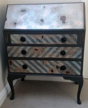 Upcycled bureau front view