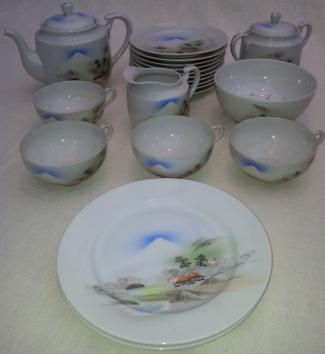 Japanese Tea Set Eggshell China