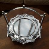 Dainty Chrome Plated Cake Stand