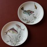 Pair of Johnson Bros Fish Plates