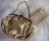 Gold bag/matching beaded purse 50's/60's