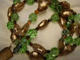 Gorgeous Glass double tier necklace 1950's