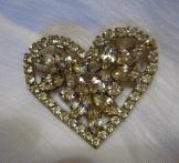 Vintage Heart Broach - Valentines Day