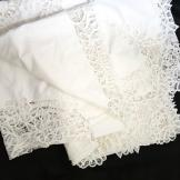 Large white lace/embroidered bedspread