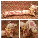 Vintage sausage dog draught excluder