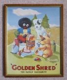 Nostalgic Golden Shred Framed Print