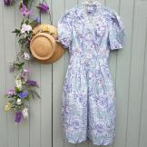 Vintage Laura Ashley Tea Dress in blue
