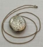 Silver 925 Oval Locket & Chain