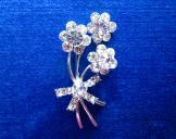 Sparkly Flower Brooch