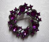 Sparkly Purple Brooch