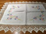 Embroidered/crotched tray cloth