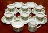 Ridgway Canterbury Ironstone Green tea set