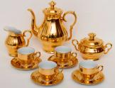 Epiag Czechoslovakian china coffee set Gold Plated