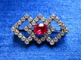 Red Diamond Brooch