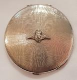 SIlver RAF ladies powder compact dated 1939