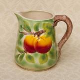 St. Clement Majolica France Jug Pitcher Fruit
