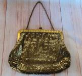 Antique 1920s Whiting and Davis Gold Mesh Bag