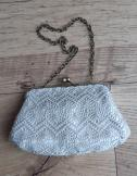 1950s crocheted lace bag/evening purse