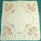 Embroidered Flower Baskets Linen Tablecloth 32