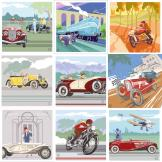 Multipack offer 9 Art Deco greetings cards