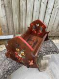 Delightful Wooden Rocking Dolls Cradle