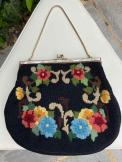 1960s Petit Point Tapestry Evening Bag