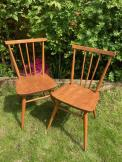 Ercol 391 Blue Label Beech and Elm Chairs x 2