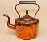 Large Vintage Old Copper & Brass Kettle