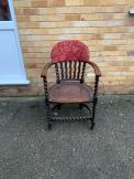 Antique Smokers Bow Captains Chair