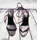 Vintage Versace Purple Heels UK 5.5 EUR 38.5