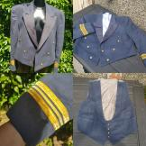 WW2 Naval Dress Suit Cutaway Jacket 1940s