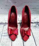 50s/60s Charles Jourdan Red Shoes UK 4/EUR 37