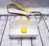 1960s Vintage Plastic Box Shoulder Bag - Yellow