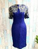 Sténay Blue & Silver Sequin Dress Size 12.