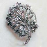 1950s Vintage Brooch Flower Spray with Marcasite
