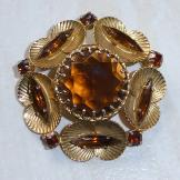 Fabulous Large Vintage Brooch Autumn Shades