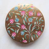 1960s Vintage Floral Powder Compact by Stratton