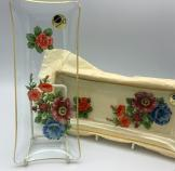 Chance glass plate - Flowers